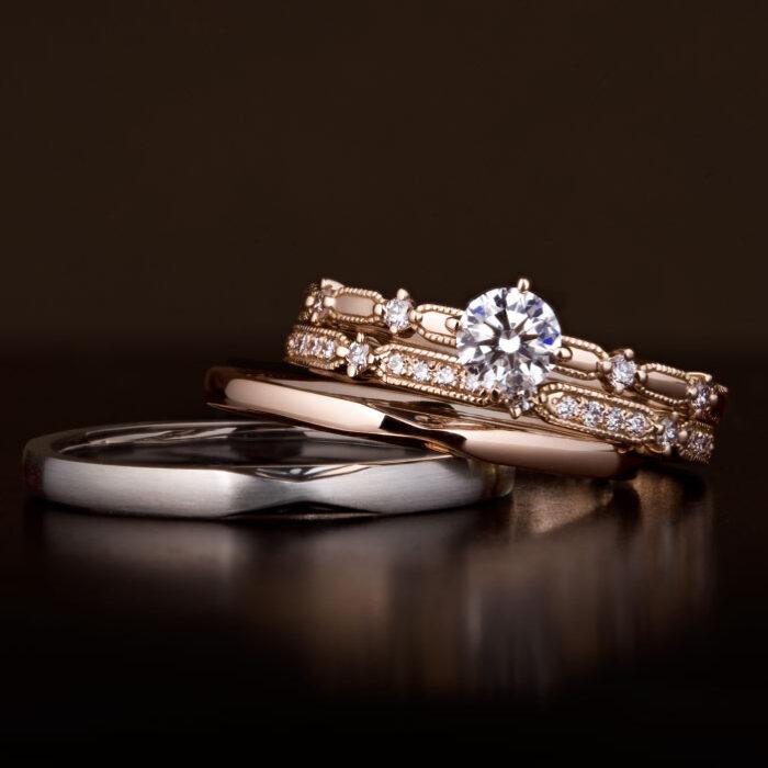 ルシエ LUCIE ローズクラシック 婚約指輪 エンゲージリング 結婚指輪 マリッジリング