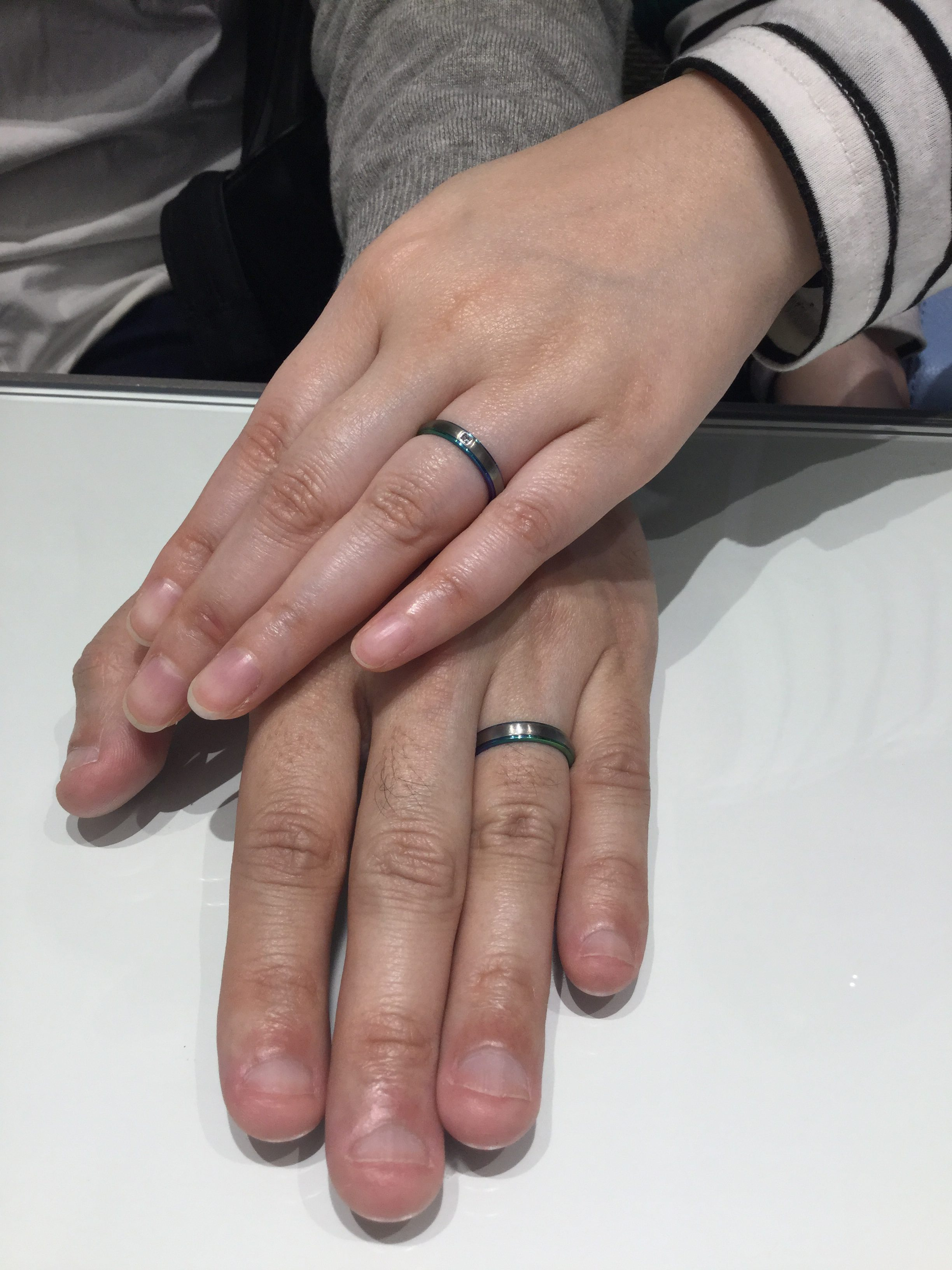 SORA(ソラ)の結婚指輪「ドーム」をオリジナルカラーで!(新潟市/H様・C様)
