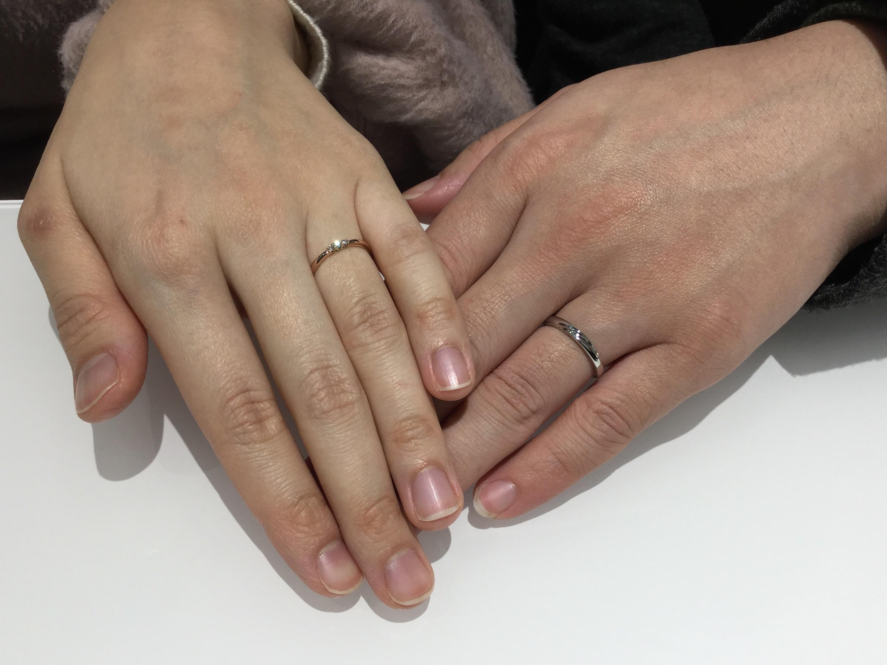 結婚指輪 ルシエの「ホープ&ロズレ」をご成約💍 (長岡市/M様ご夫婦)