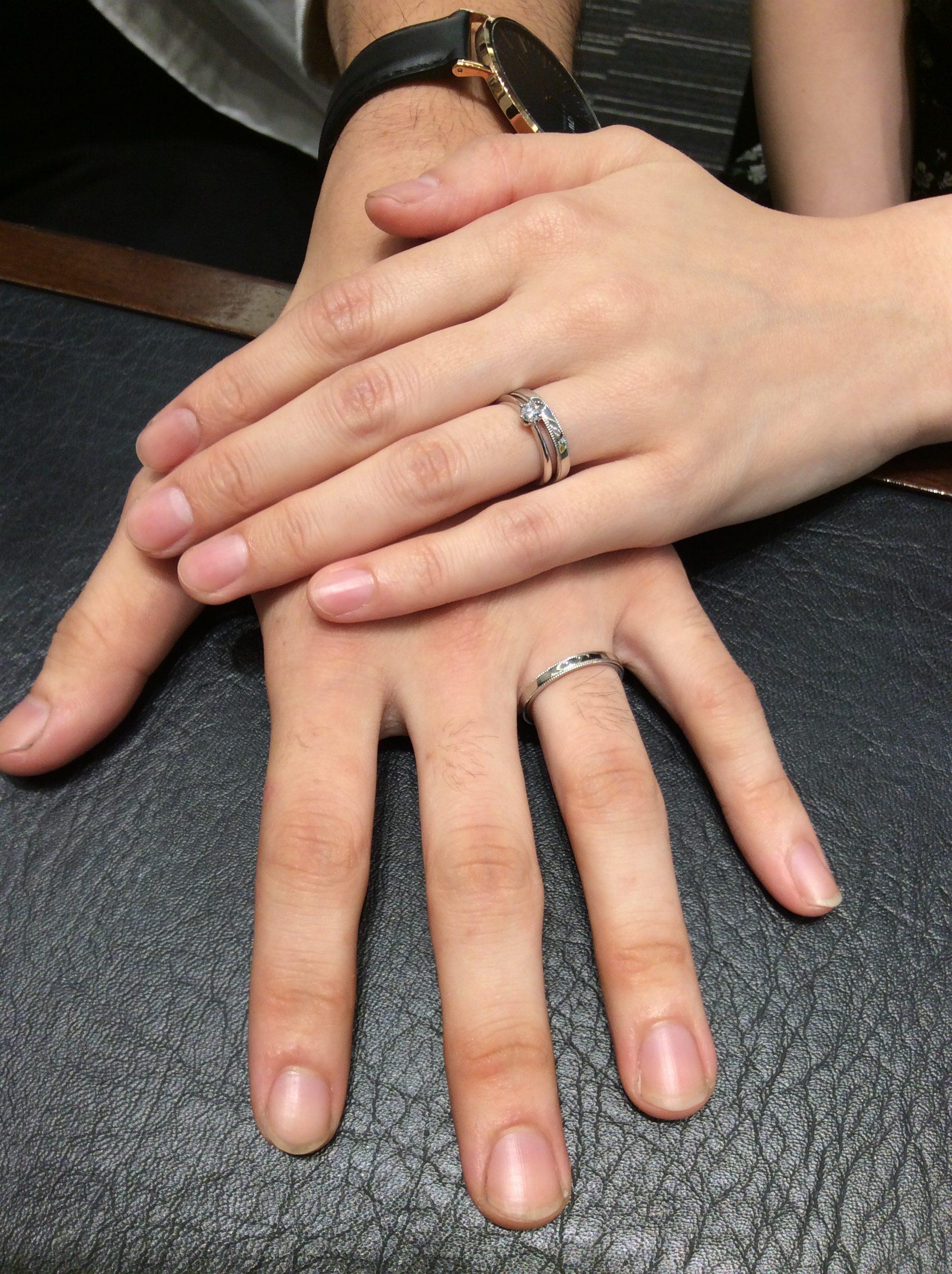 ロイヤルアッシャーの婚約指輪と結婚指輪をご成約💎(阿賀野市/A様♡H様)