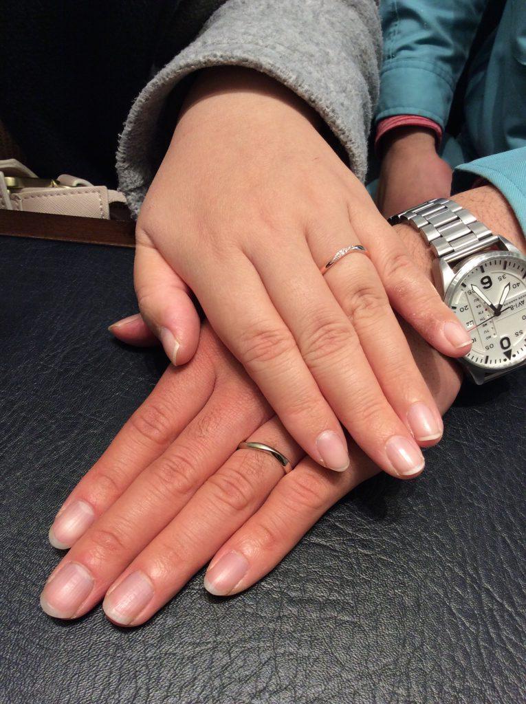 永遠の愛の証💓プルーブの結婚指輪をご成約(新潟市/Y様ご夫婦様)