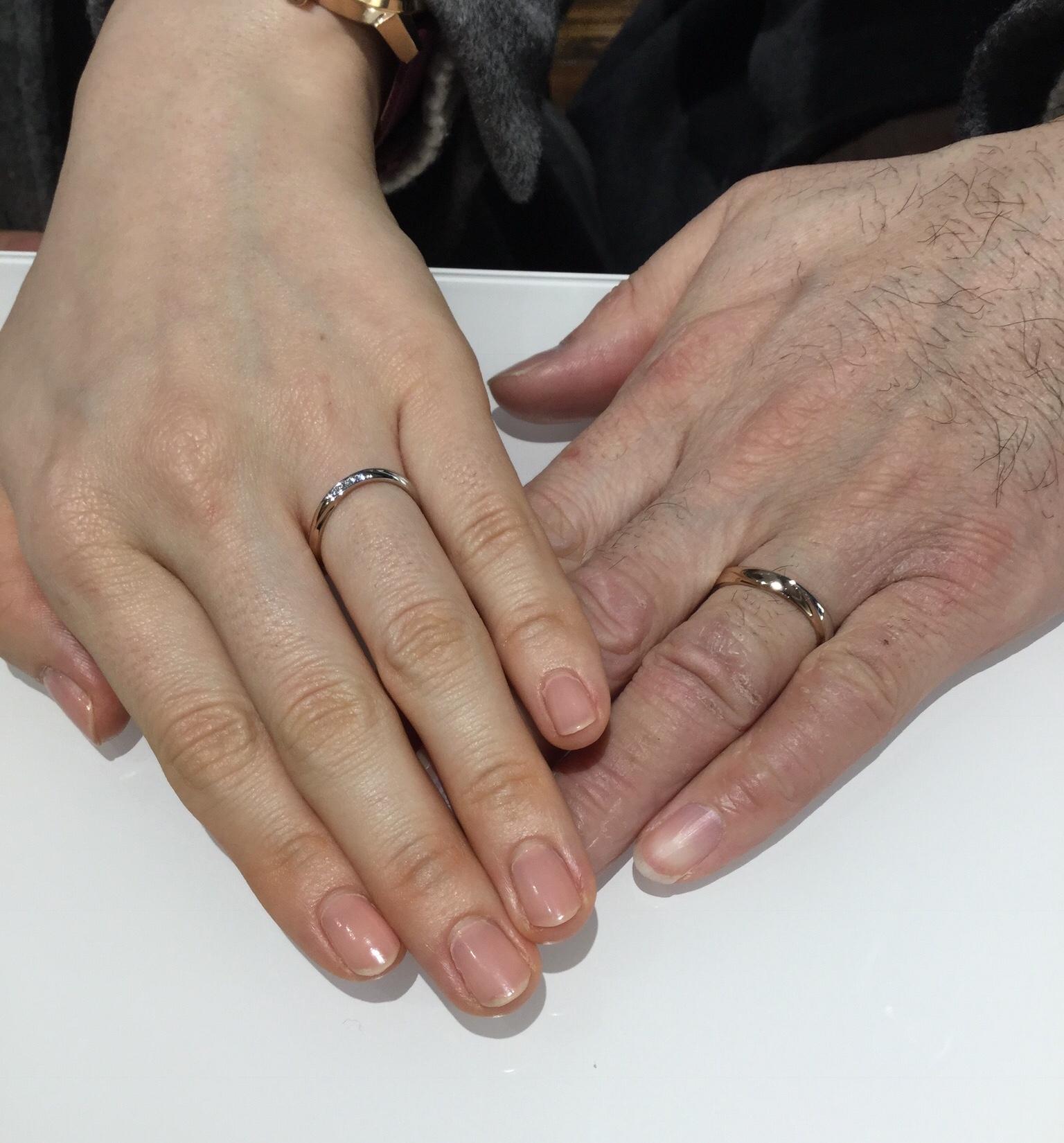 ニワカの結婚指輪をご納品しました‼️