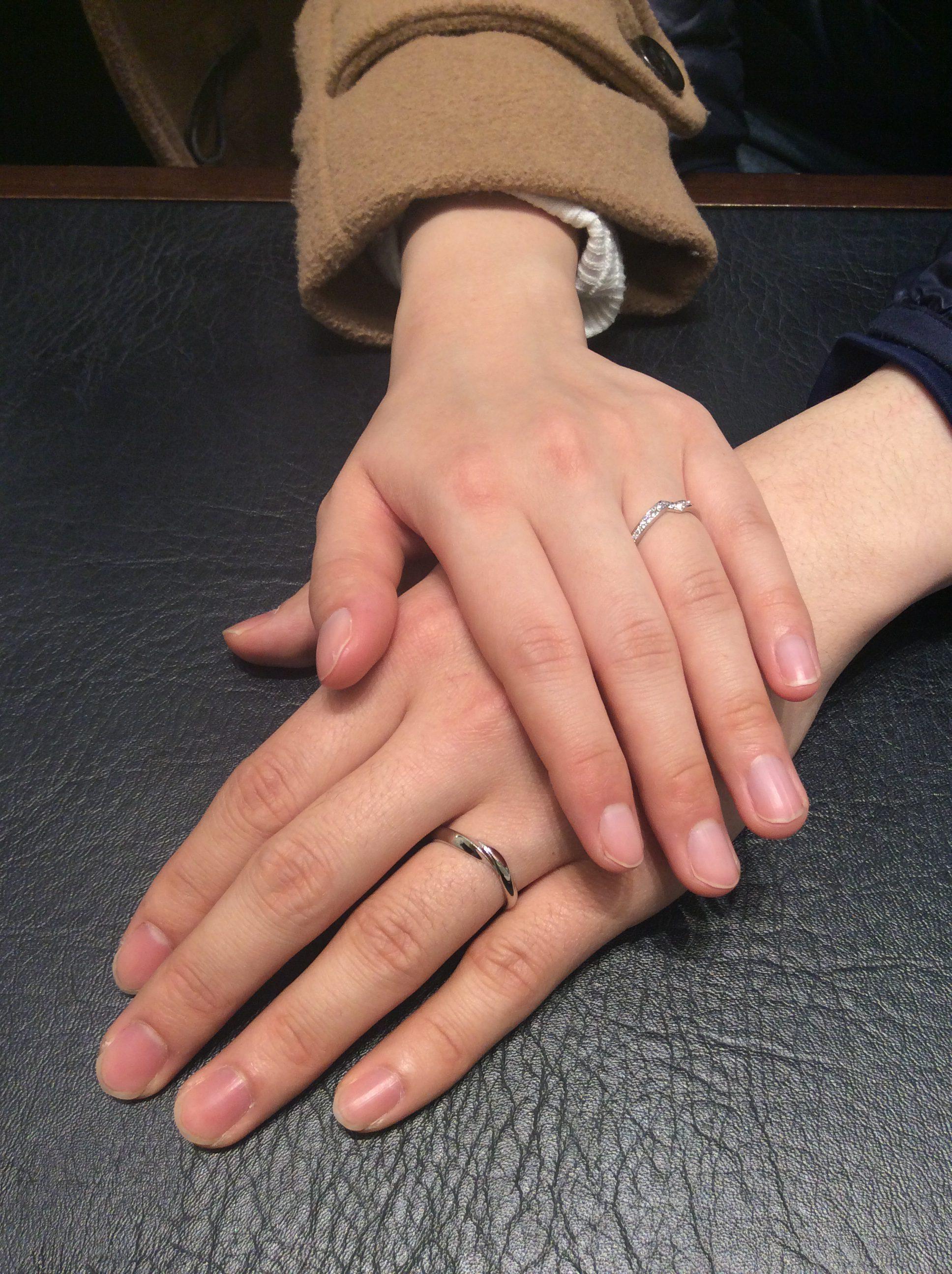 俄(にわか)の結婚指輪「初桜」と「綾」をご成約(燕市/I様💓I様)