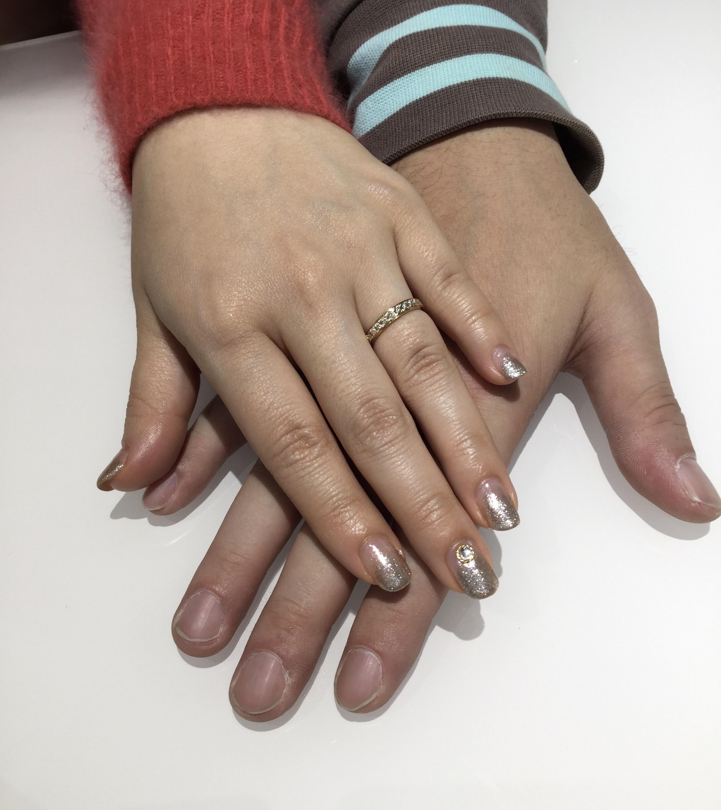 ラザールダイヤモンドの婚約指輪をイエローゴールドで…⭐️(柏崎市/N様&M様