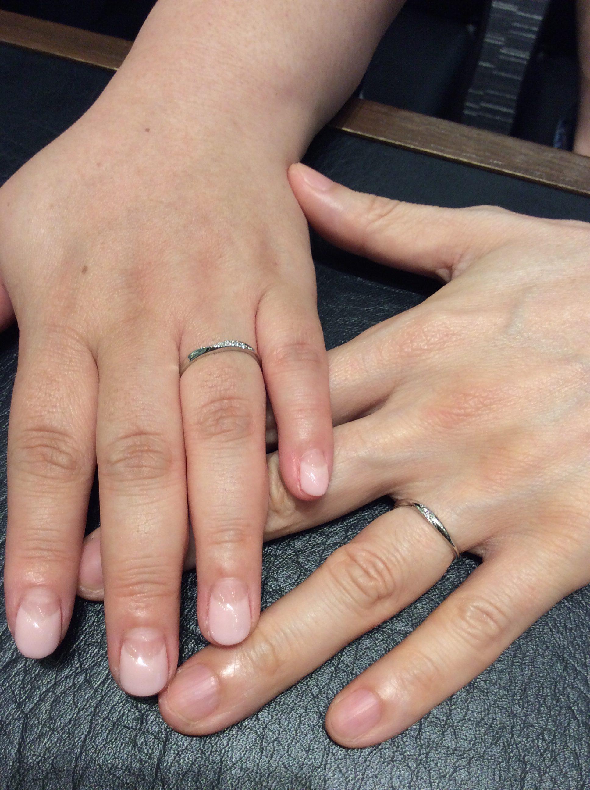 ピンクドルフィン🐬💓の結婚指輪をご成約(長岡市/I様&K様)