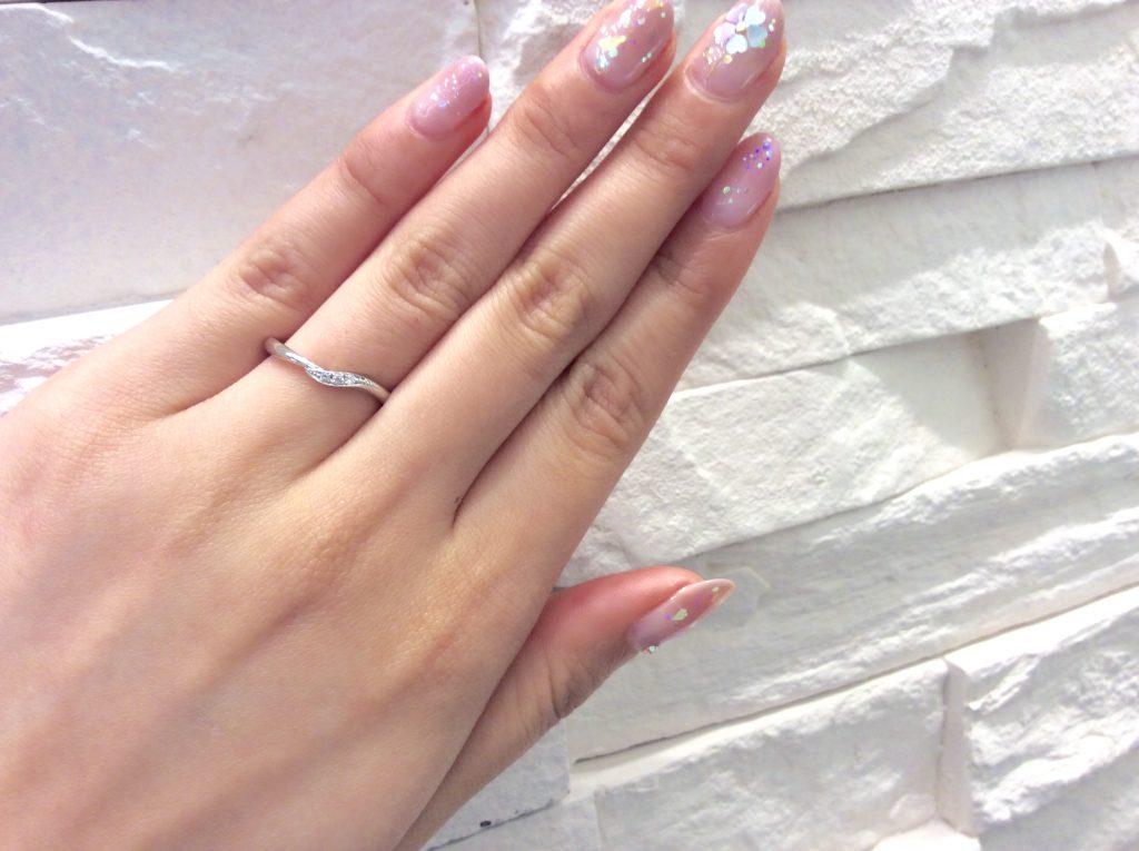 珍しい❕カフェリングのピンクダイヤモンド💓結婚指輪💒
