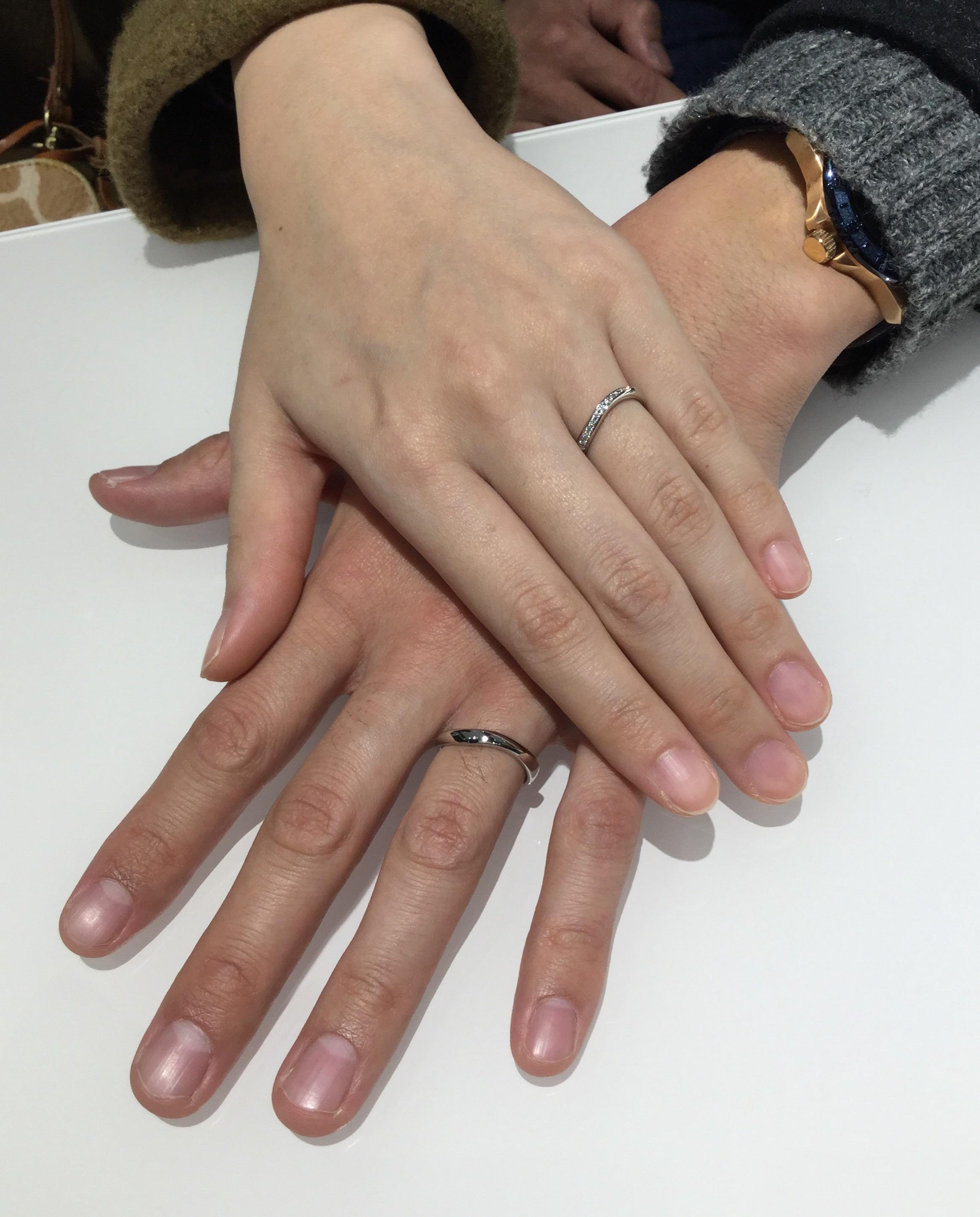 美しいデザインが決め手💕ルシエの結婚指輪「セレナーデ」(村上市/Y様&M様)