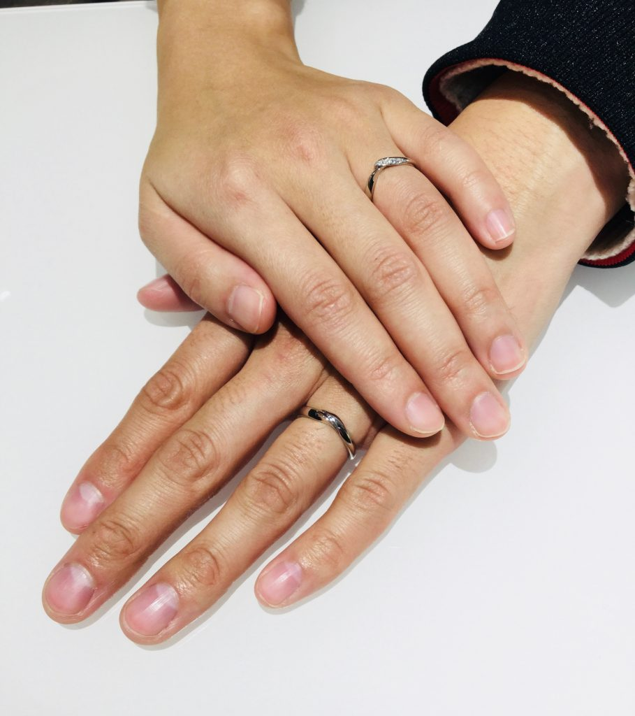 着け心地が決め手!俄(にわか)の結婚指輪「初桜」(三条市/M様ご夫婦)