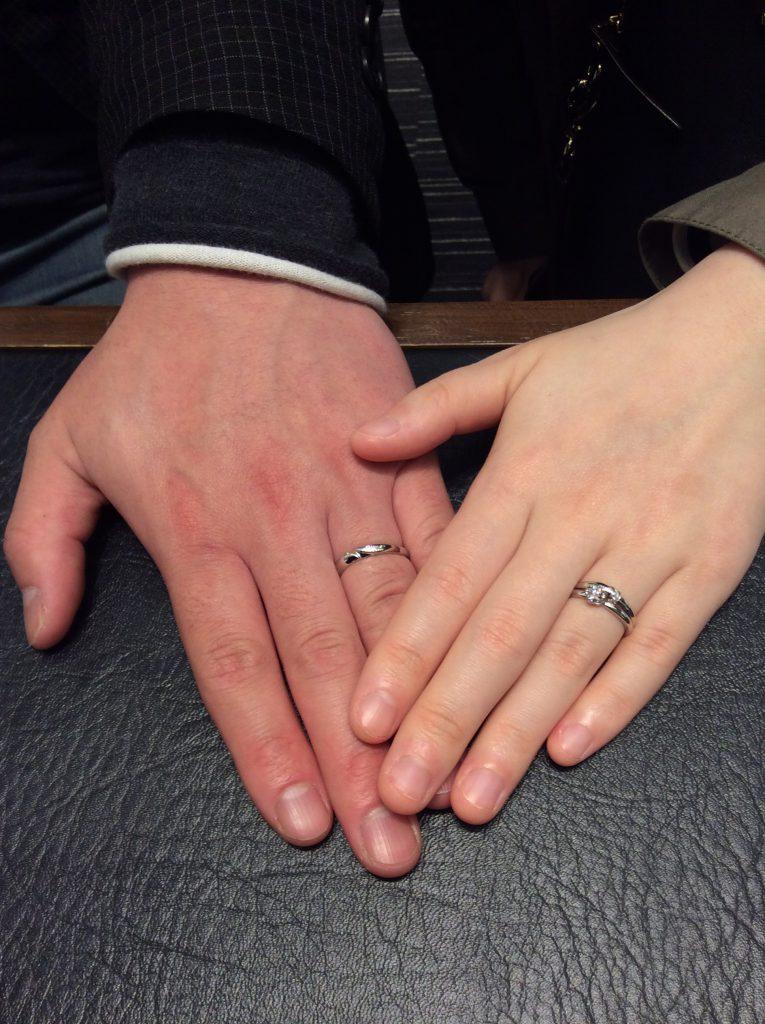 重ね付けが美しい✨俄の結 結婚指輪 婚約指輪をお求め頂きました✨(市内/I様ご夫婦)