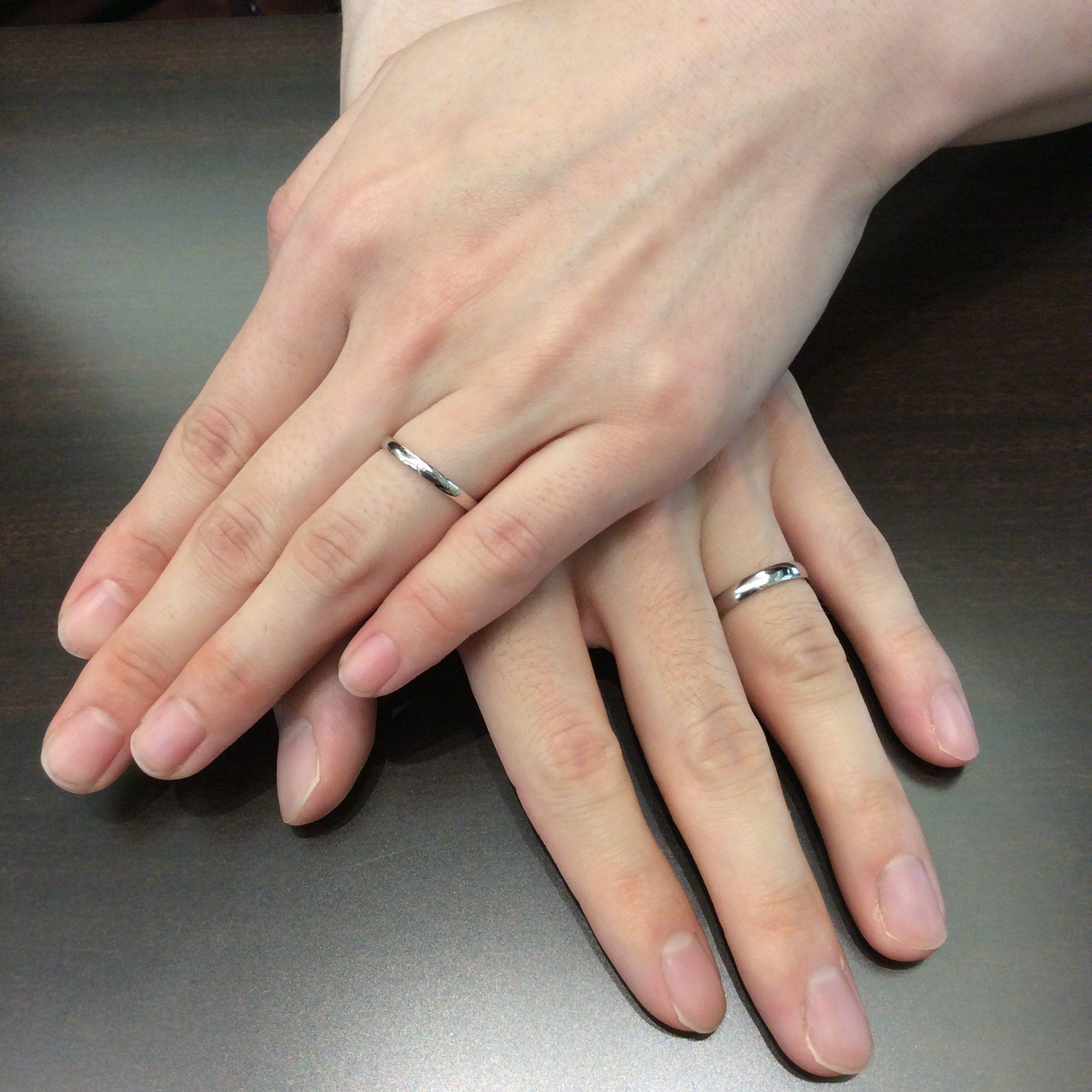 シンプル 俄(にわか)の結婚指輪「ことほぎ」(新潟市/S様ご夫婦)