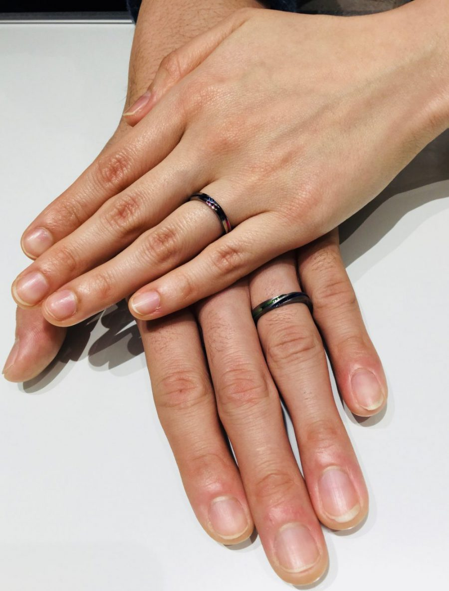 【カラフルな結婚指輪】SORA(ソラ)をオリジナルカラーでご成約(新潟市/T様ご夫婦)