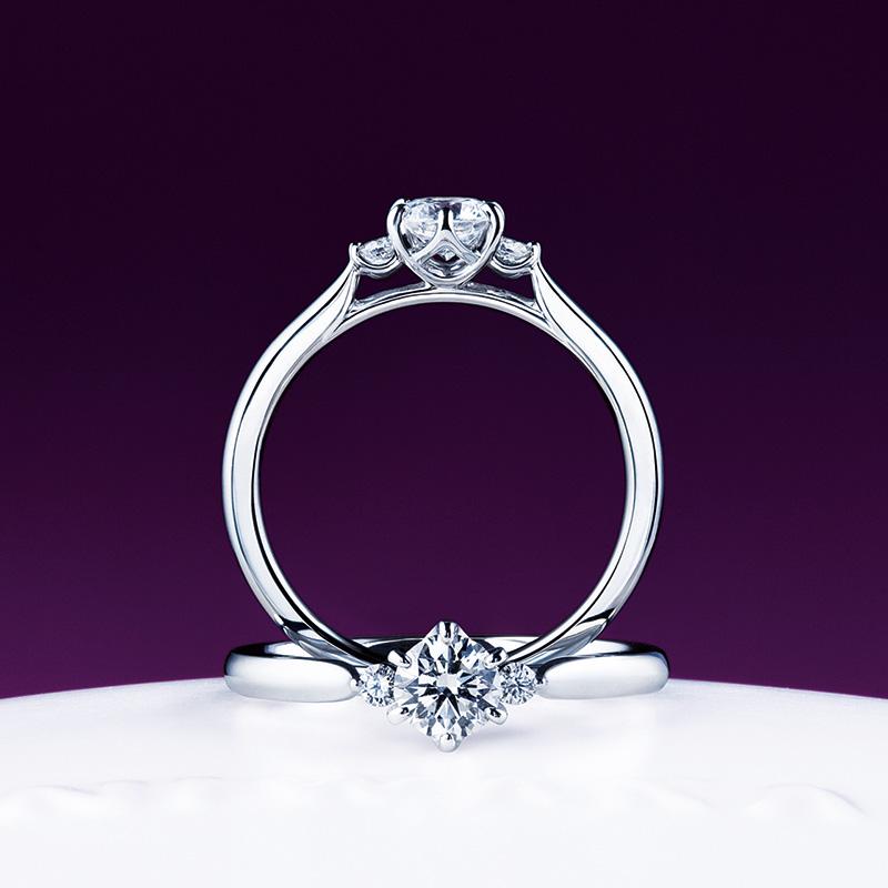 俄(にわか)婚約指輪(エンゲージリング) 白鈴(しろすず)画像