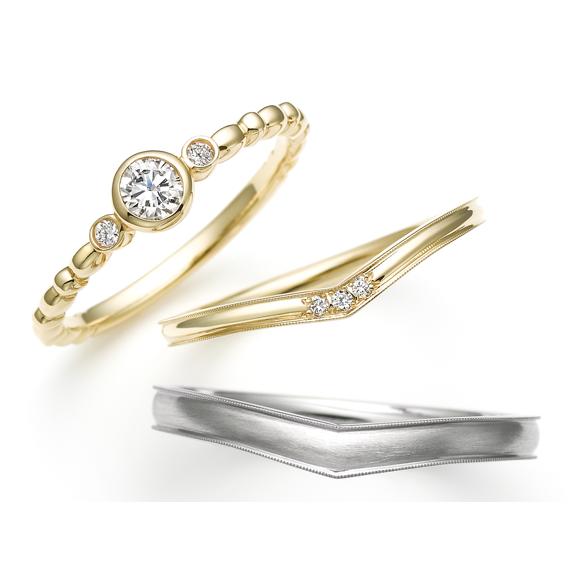 スチームボートウィリー ハッピーフラワー 婚約指輪・結婚指輪
