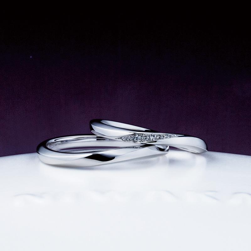 俄(にわか)NIWAKA 結婚指輪 朝葉(あさは)