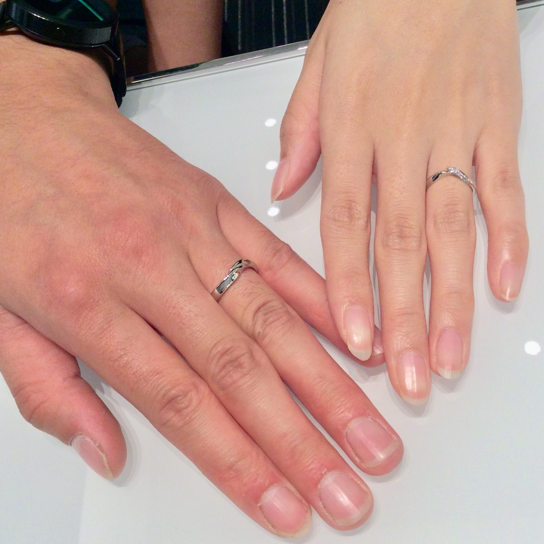 特別な意味が込められた俄(にわか)の結婚指輪(柏崎市/T様・Y様ご夫婦)