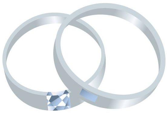 結婚指輪(マリッジリング)、ダイヤモンド、プラチナ
