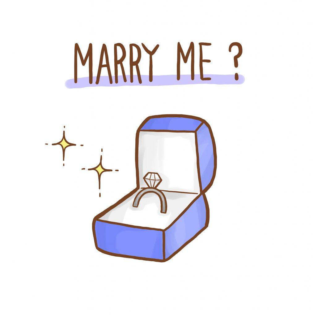 婚約指輪(エンゲージリング)、ダイヤモンド、プロポーズケース