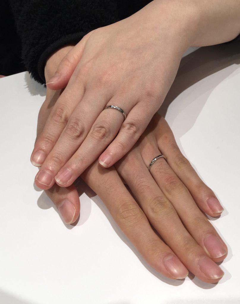 俄(にわか)の結婚指輪『雪佳景』をお選び頂きました(柏崎市/S様ご夫婦)