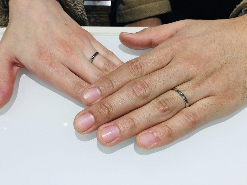 サムシングブルーの結婚指輪で幸せのおまじないを…(柏崎市/N様・M様)