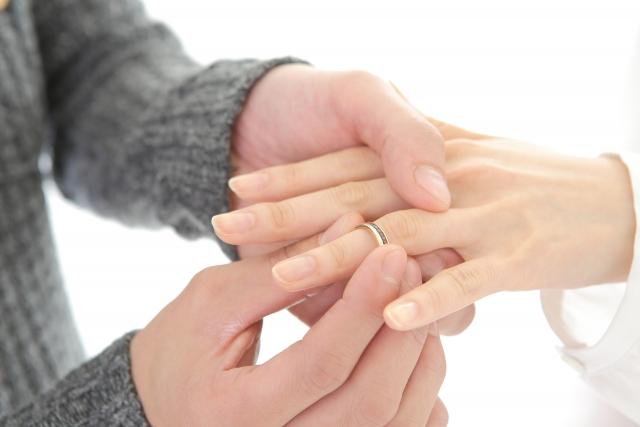 結婚指輪(マリッジリング)、左手薬指、指輪交換