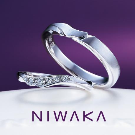 俄(にわか)NIWAKA 結婚指輪(マリッジリング) 唐花(からはな)画像