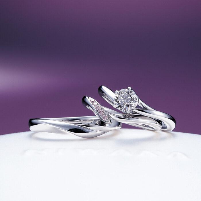 俄(にわか)NIWAKA 婚約指輪 結婚指輪 初桜のセットリング