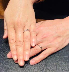 俄(にわか)せせらぎ【結婚指輪】をご成約/長岡市T様・Y様
