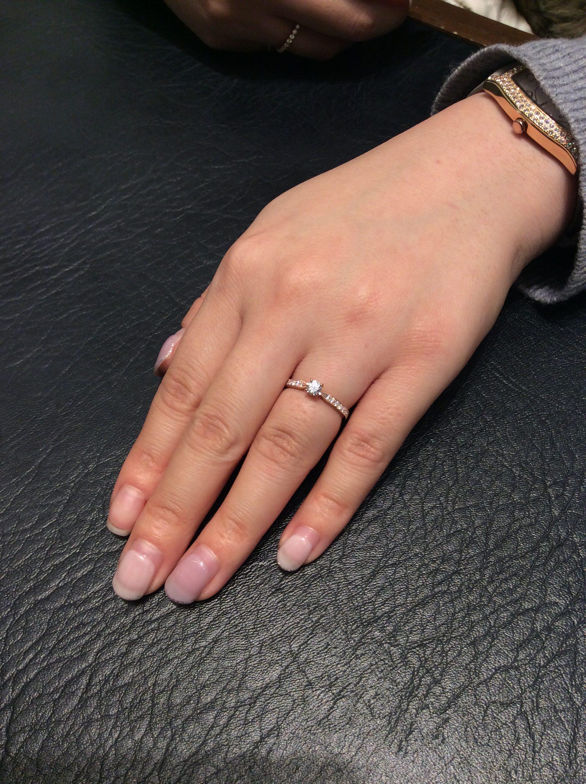 ルシエの婚約指輪「パルファン」をご成約/新潟市Y様・E様