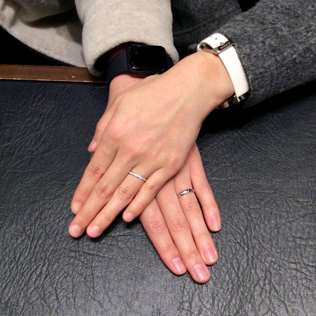 NIWAKA(俄)のご結婚指輪「ことほぎ」をご成約(長岡市/H様・E様)