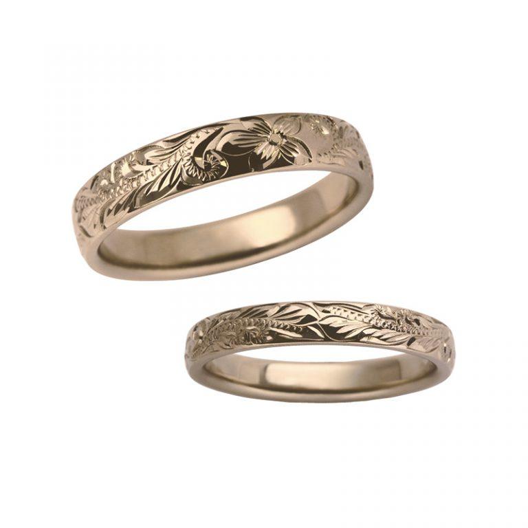結婚指輪ハワイアンジュエリー イモータル「スクロール」