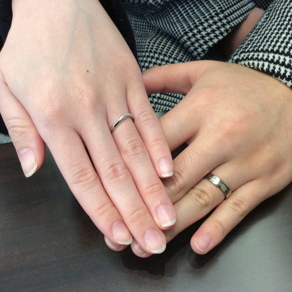 「祈り」俄(にわか)の個性派結婚指輪/長岡市K様・M様