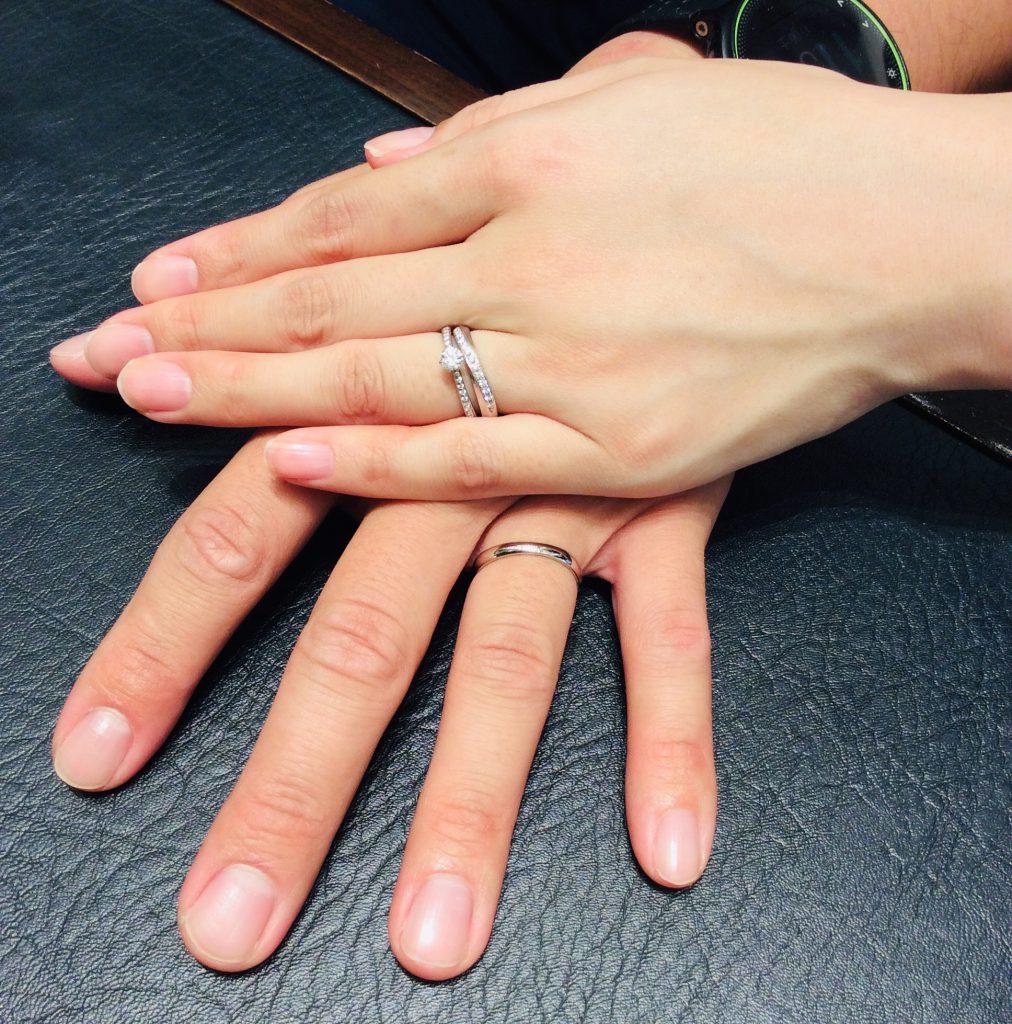 【俄(にわか) 結婚指輪】織物のような美しさ「綺羅」をご成約