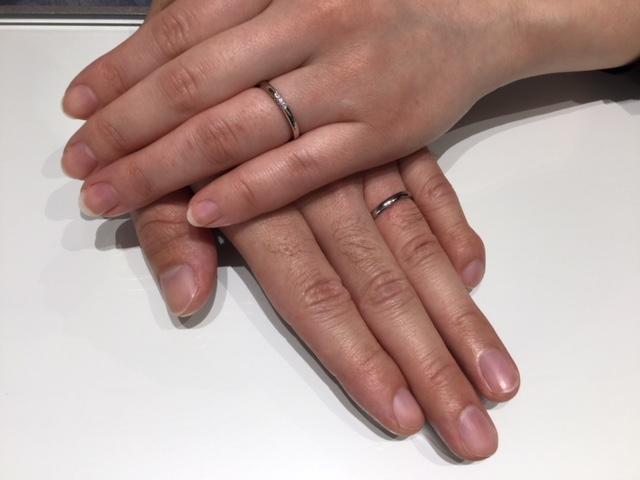 ラザールダイヤモンドの結婚指輪をご成約いただきました/長岡市S様・M様