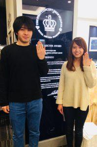 【結婚指輪】白く上品なロイヤルアッシャーの輝き/長岡市 翔太様・可奈様