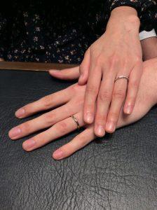 【結婚指輪 ラザールダイヤモンド】世界一の輝きに惚れました/胎内市K様・村上市M様