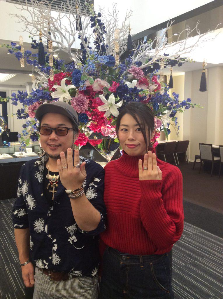 結婚指輪 俄(にわか)「雪椿(ゆきつばき)」/燕市K様・C様