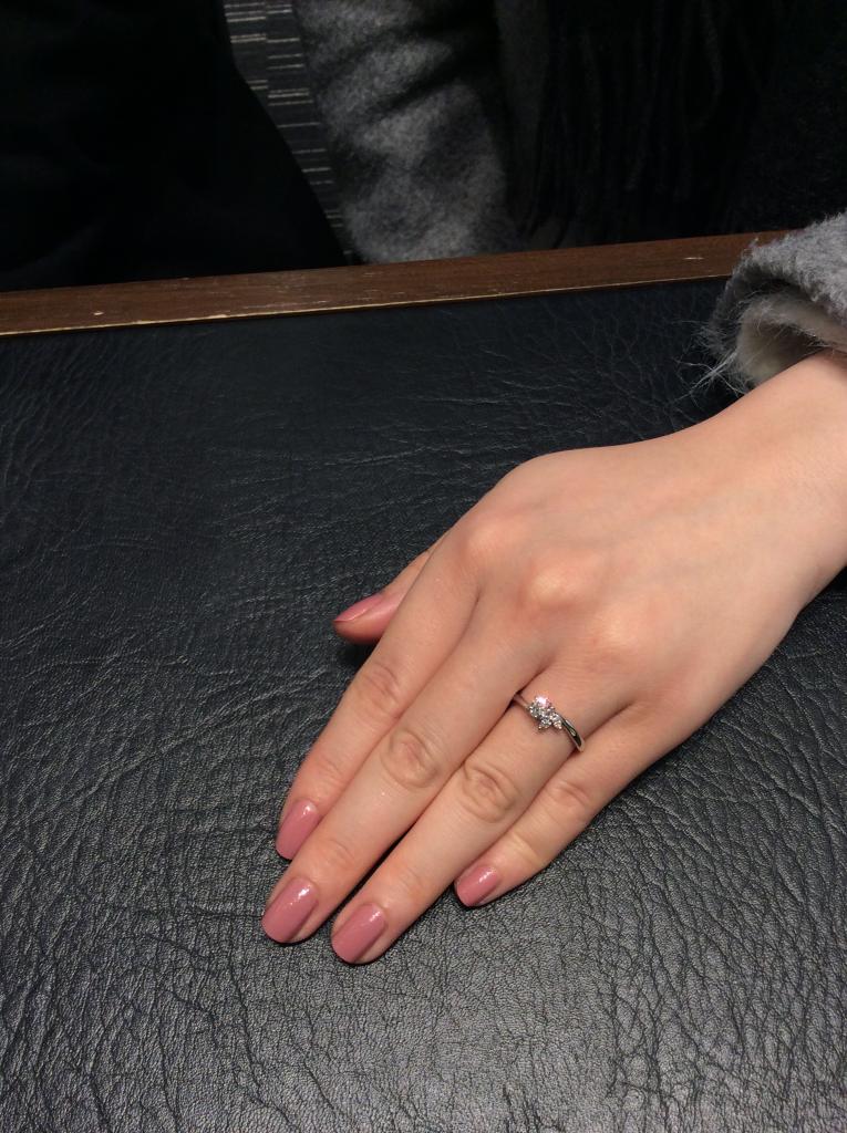俄(にわか)の婚約指輪「月彩」をご成約いただきました/新潟市Y様&S様