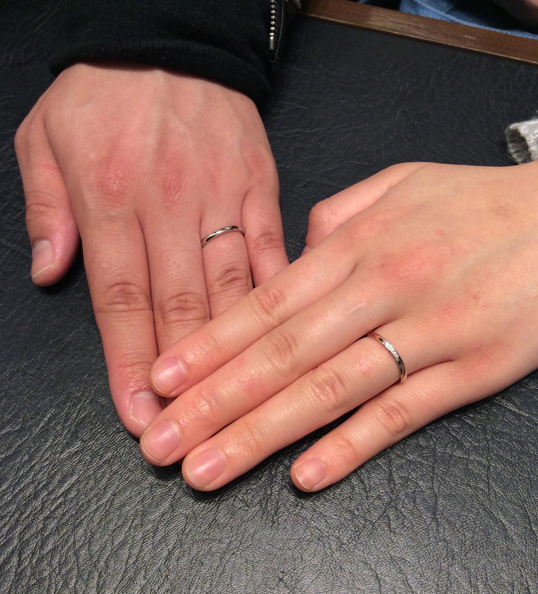 俄(にわか)の結婚指輪「雪佳景」をご成約/新潟市Y様・M様