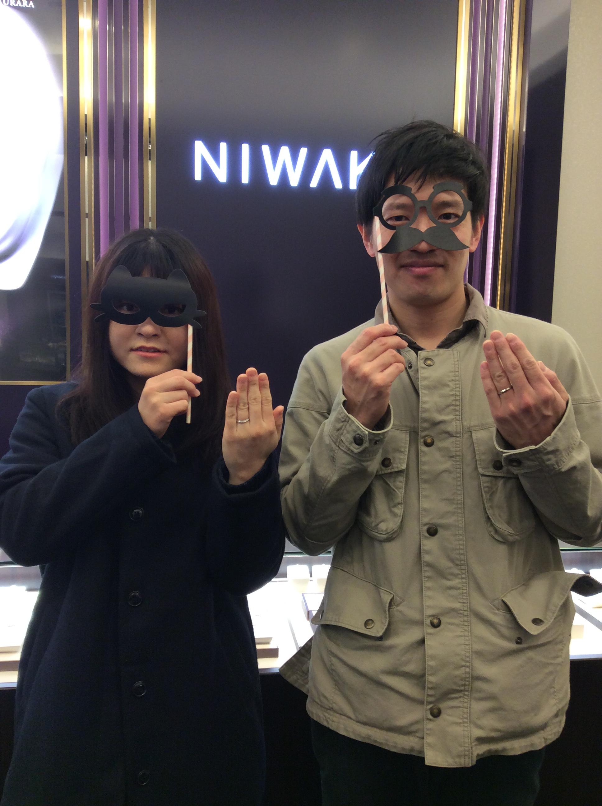 「綺羅(きら)」俄(にわか)の結婚指輪をご成約/新潟市Y様&M様