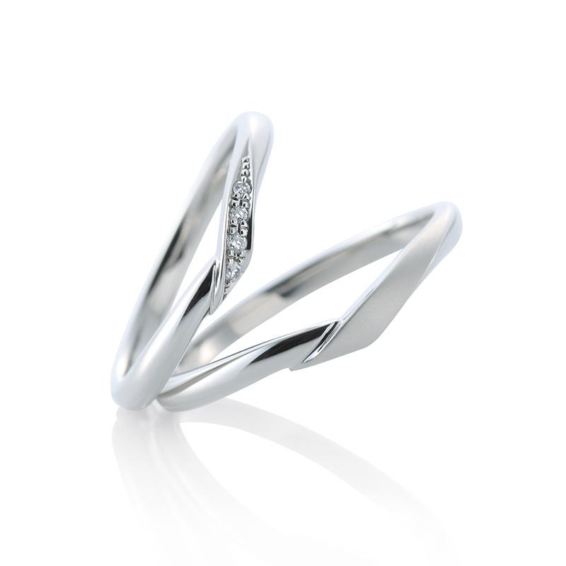 V字 結婚指輪