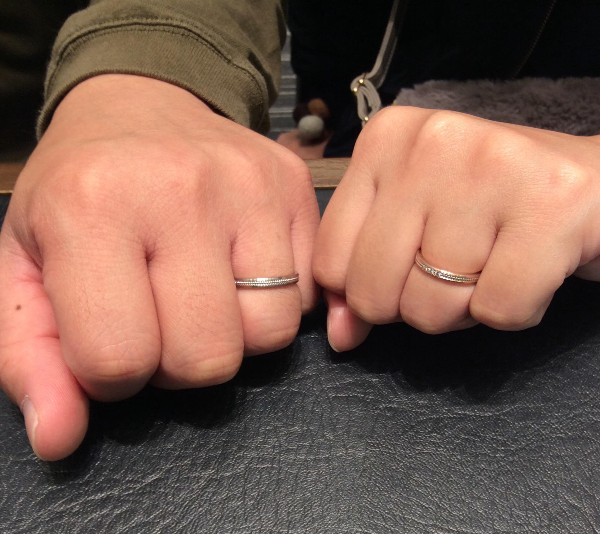 LUCIE(ルシエ)の結婚指輪をご成約いただきました/胎内市・村上市 H様・K様