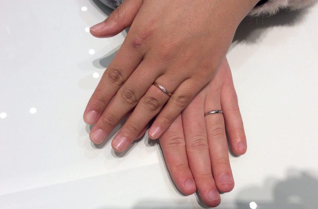 スイートブルーダイヤモンドの結婚指輪をご成約/十日町市 樋口優輔様・愛美様