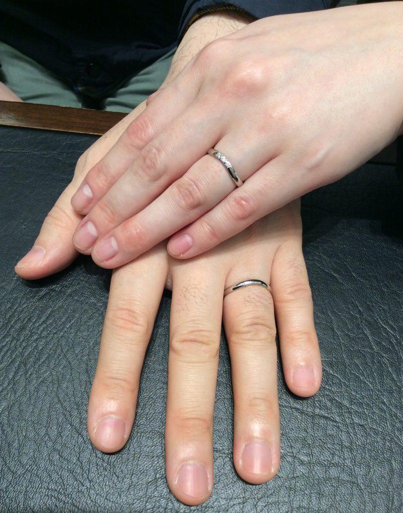 ラザールダイヤモンドの結婚指輪「リラ」をご成約/新潟市・三条市 W様&H様