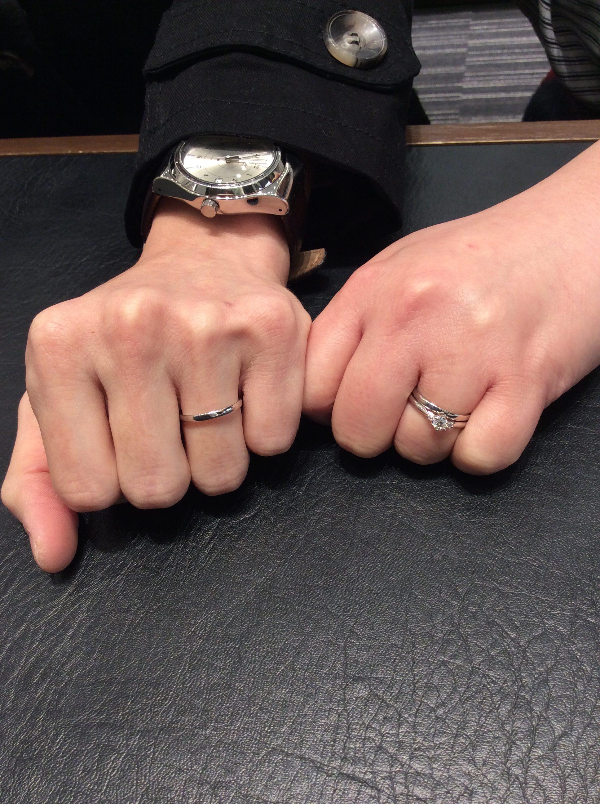 【婚約指輪・結婚指輪】俄(にわか)「白鈴(しろすず)&ことほぎ」をご成約/新潟市R様・Y様