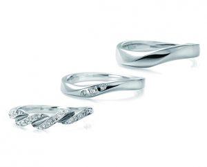 LUCIE(ルシエ)結婚指輪 リボン画像