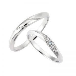 スイートブルーダイヤモンド結婚指輪 LB00012・LB00013