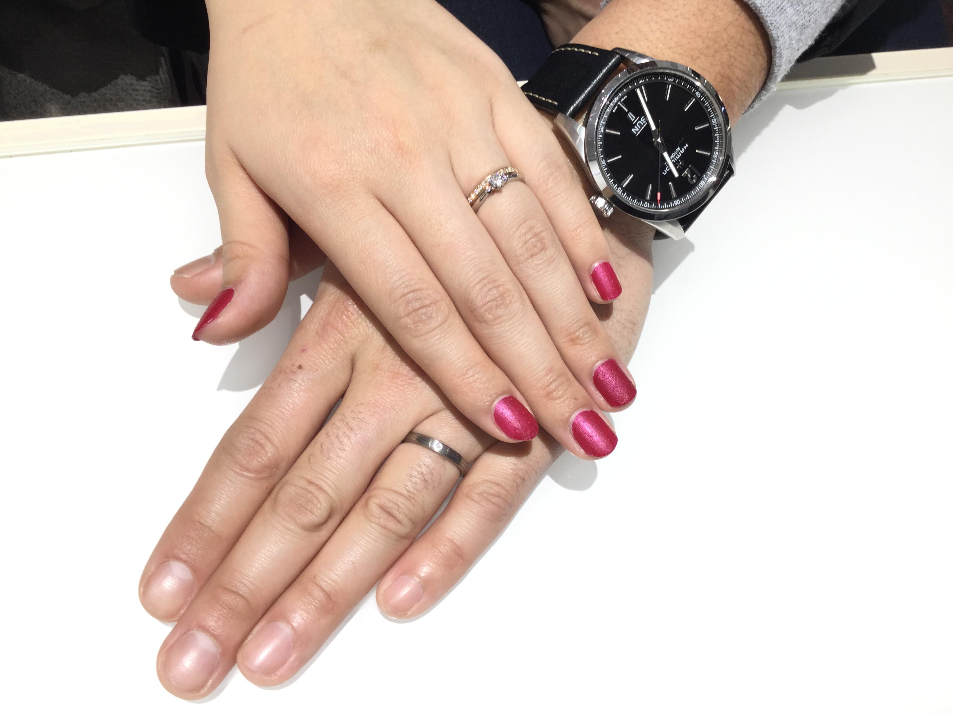 【婚約指輪・結婚指輪】ルシエ「セリーン」&俄(にわか)「長閑」をご成約/渡辺聡様&実穂子様