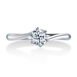 ロイヤルアッシャー婚約指輪(エンゲージリング) ERA318画像