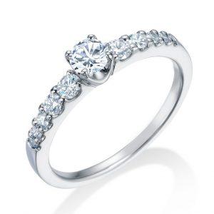ロイヤルアッシャー婚約指輪(エンゲージリング) ERA689画像