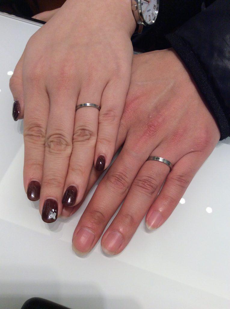 サムシングブルーの結婚指輪をご成約いただきました/燕市T様&H様